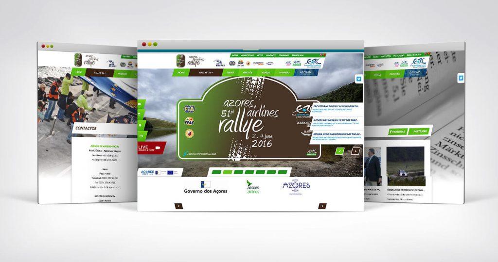 Criação de site para a Azores Airlines Rally