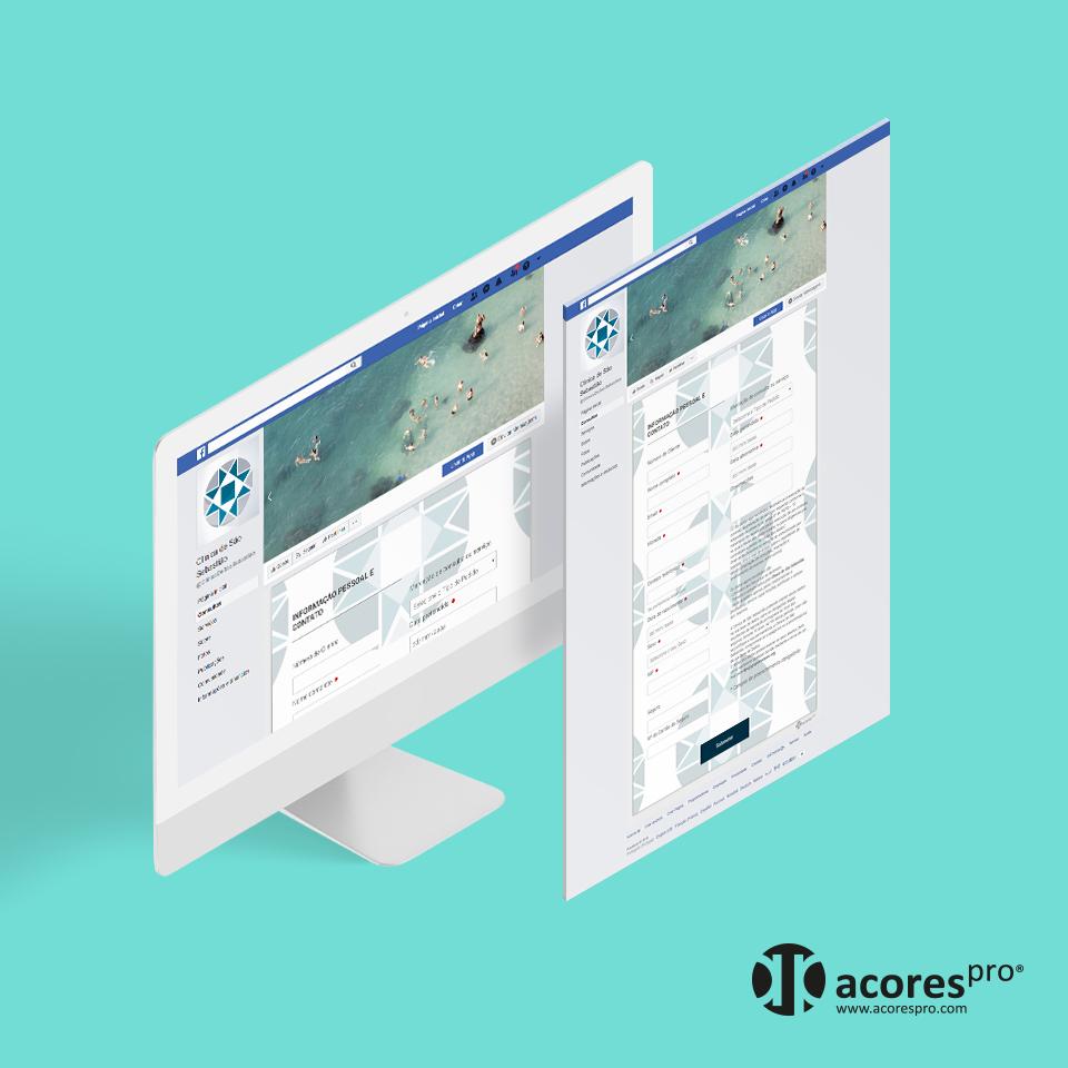 Formulário de consultas no Facebook para clínica médica