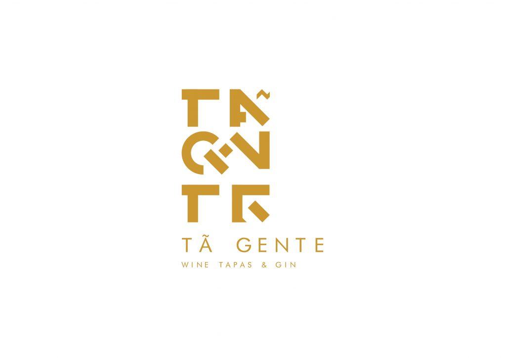 logotipo de restaurante versão branco e castanho