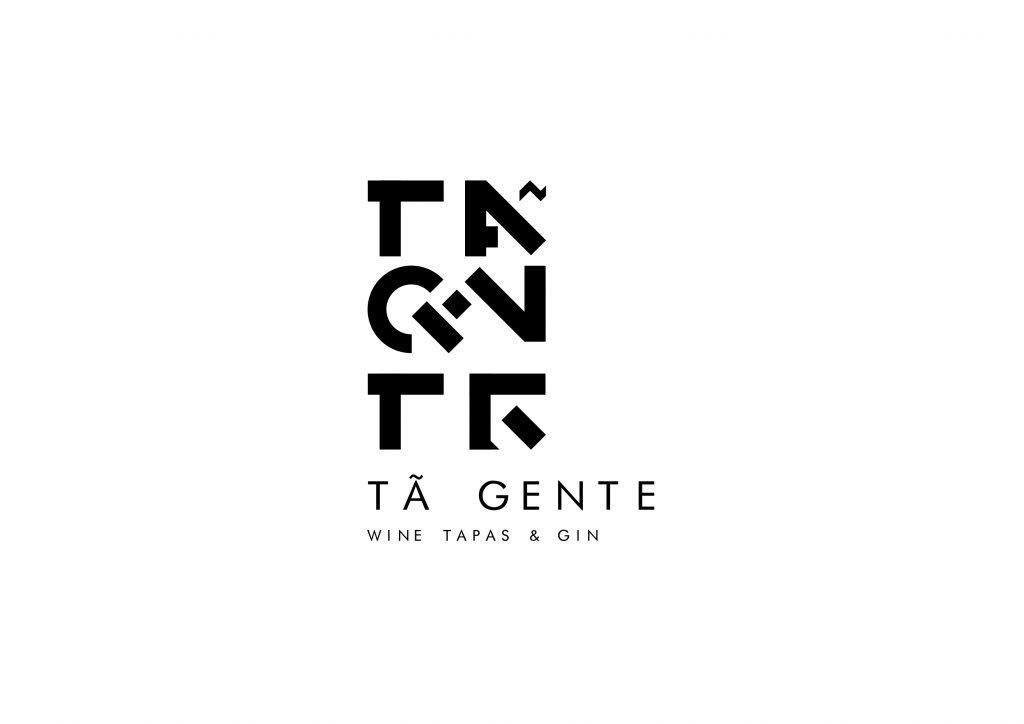 logotipo de restaurante versão branco e preto