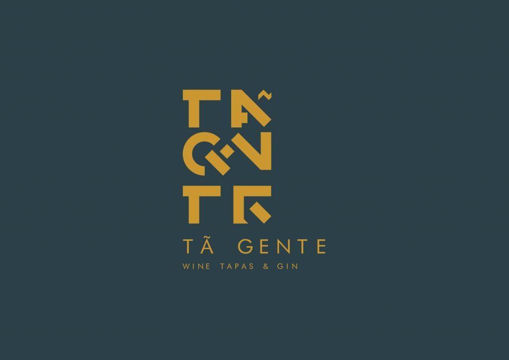 logotipo de restaurante versão cinza e castanho