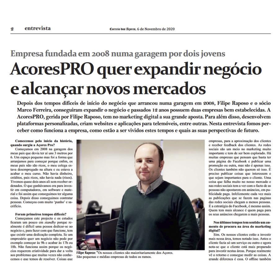 Entrevista AcoresPRO