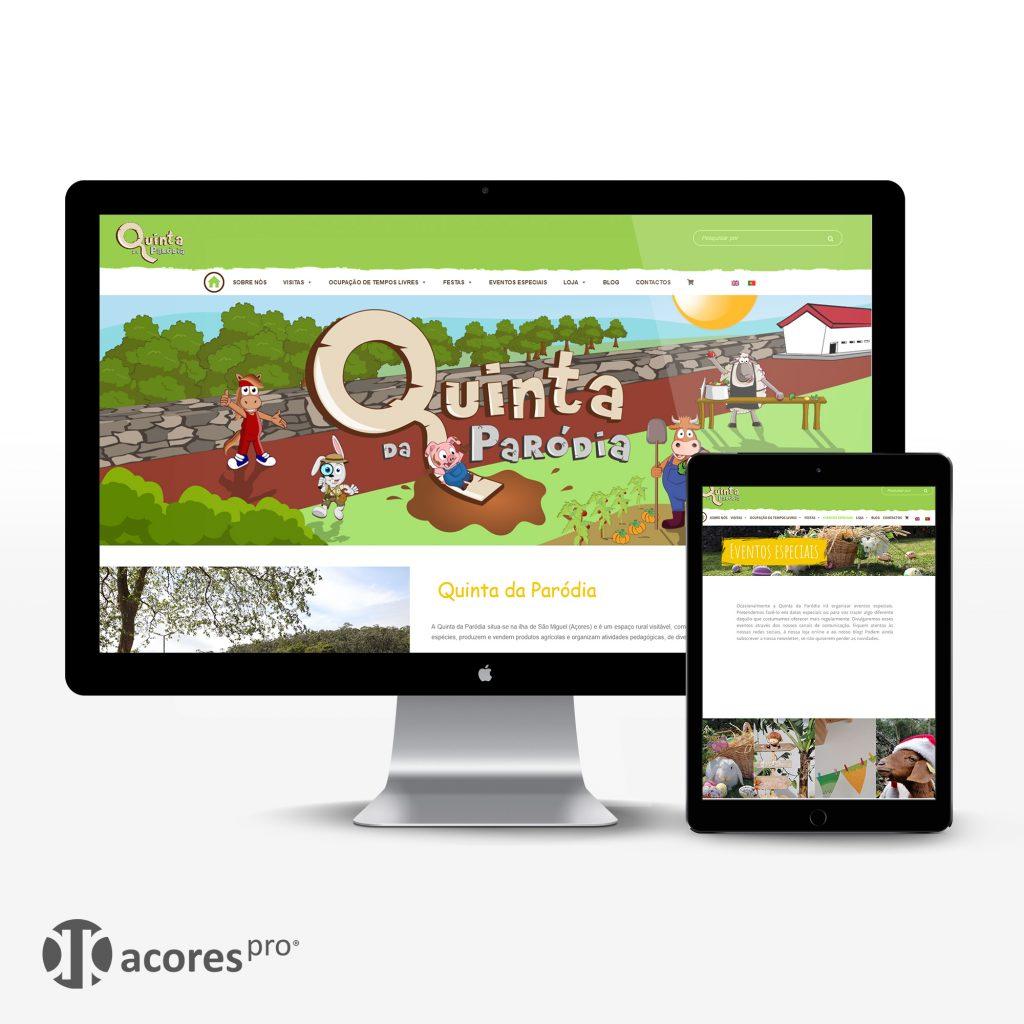Criação de website para a Quinta da Paródia